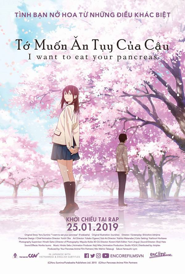 Review phim anime Tớ Muốn Ăn Tụy Của Cậu (Let Me Eat Your Pancreas)