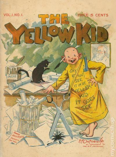 """""""The Yellow Kid"""" được giới thiệu vào năm 1895."""