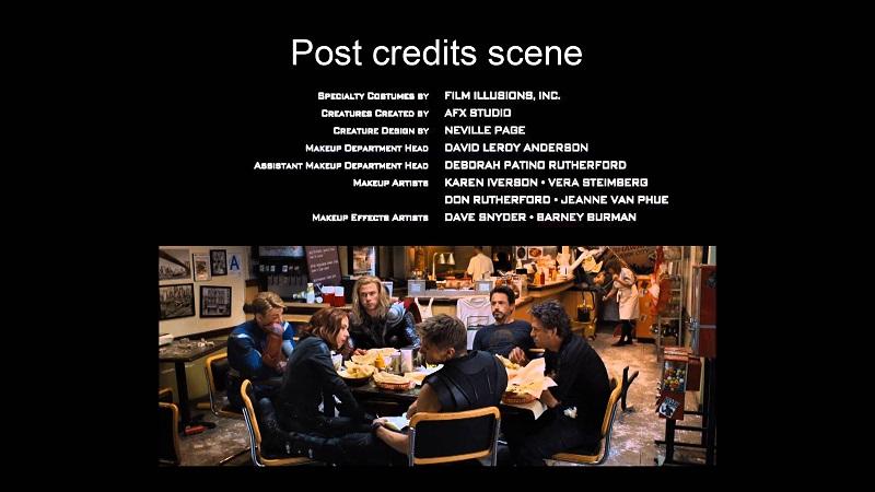 Giải thích và mục đích của Post credits, Mid credits và After credits là gì?